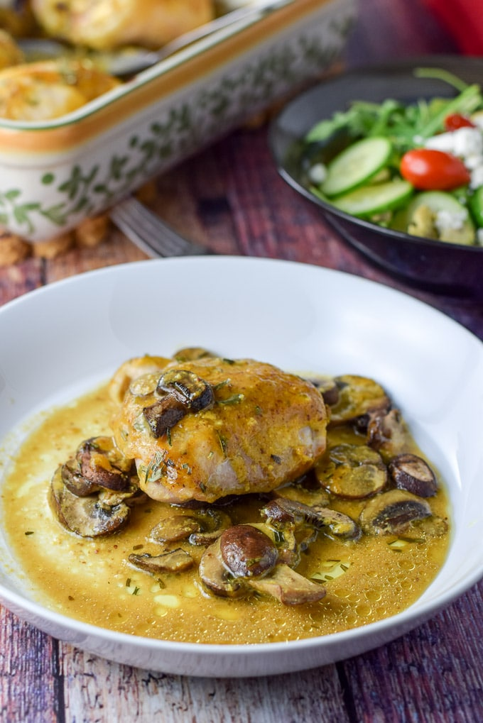 Baked Mustard Chicken Thighs