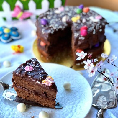 Double coffee lush chocolate cake