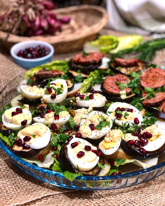 Eggs and spicy lamb koftas yummy salad boats