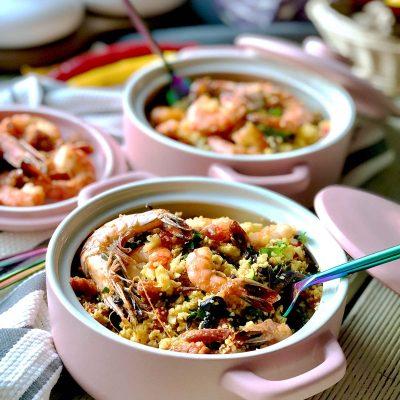 Low Carb Prawn, Chorizo and Cauliflower Couscous