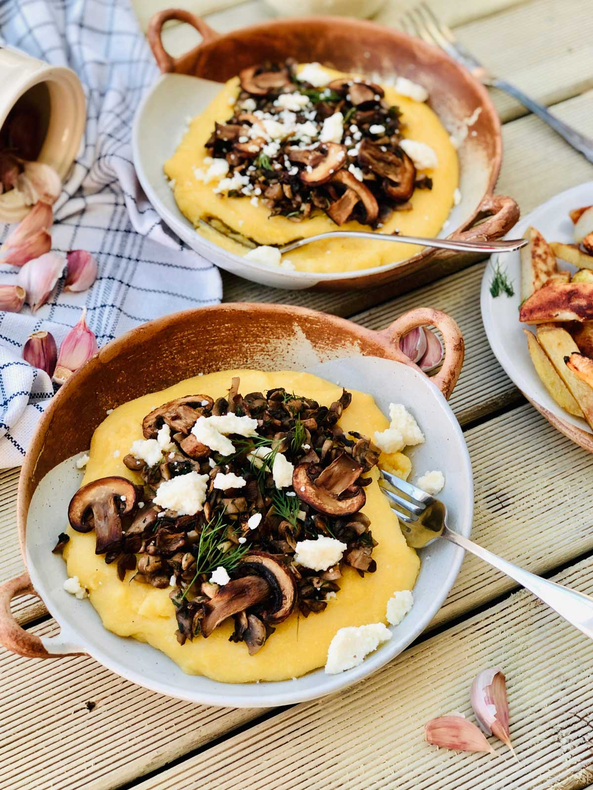Mushrooms and polenta