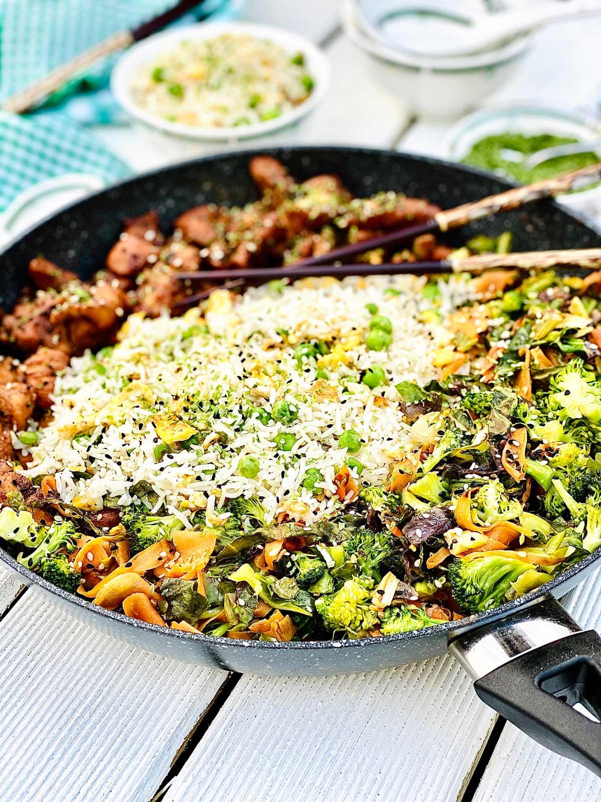 Teriyaki chicken egg fried rice