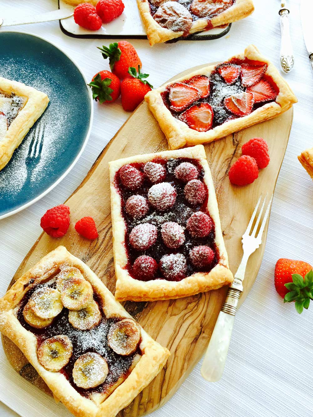 Tutti fruity jam and fruit tartlets