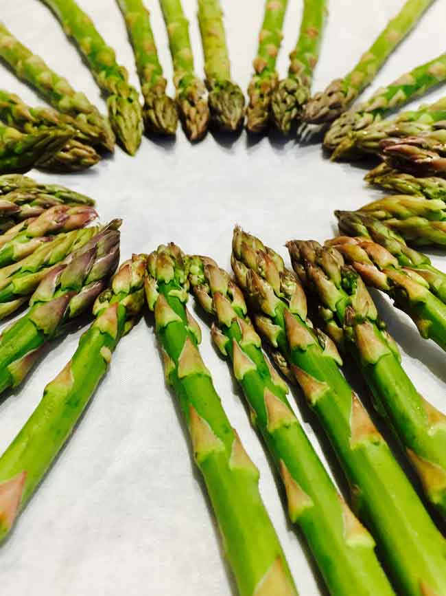 A bunch of asparagus I baked for the salad.