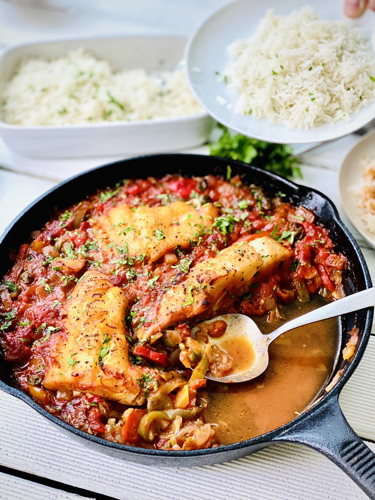 Baked Cod Recipe with tomato sauce