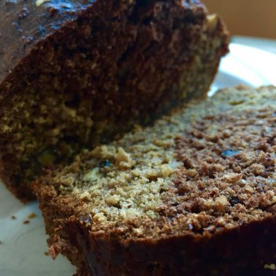 Banana, ginger and walnut cake