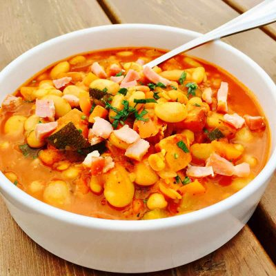 Best ever cannellini and butter bean soup