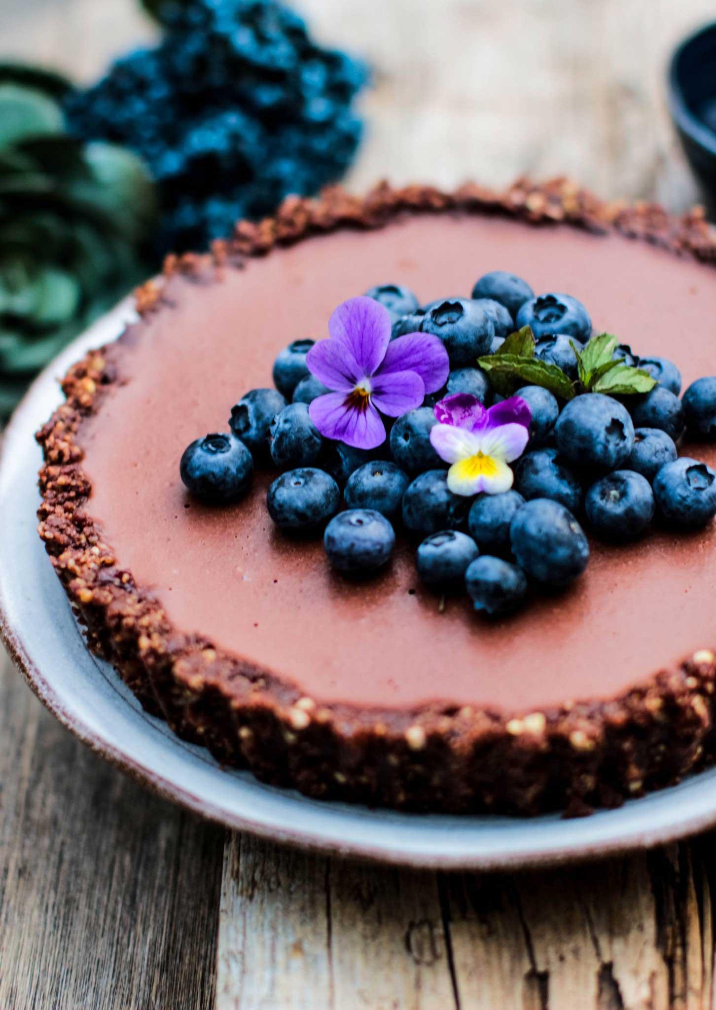 Chocolate ganache tart vegan gluten free