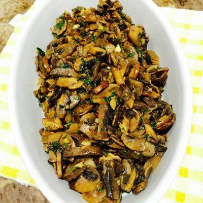 Garlic infused mushrooms