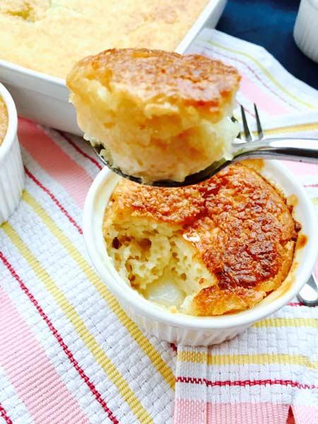 A creme coconut close-up: prepare your spoon!