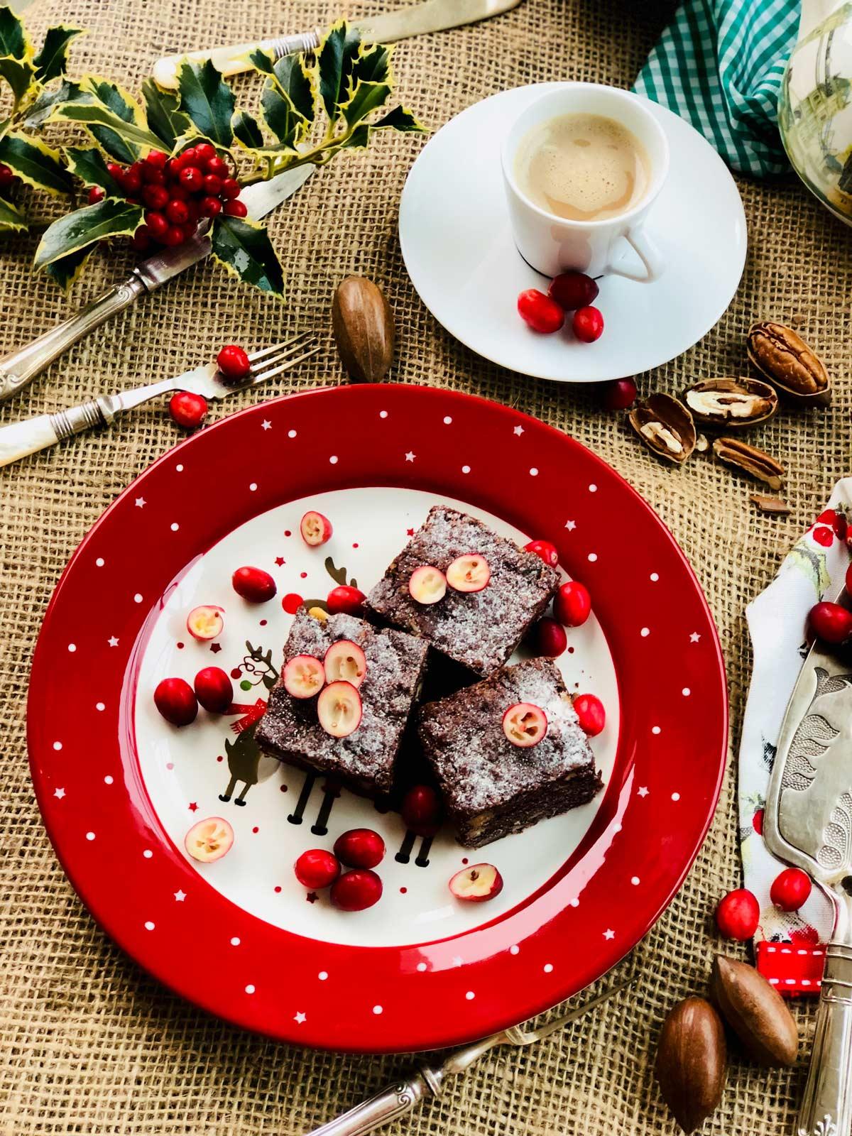 Nuts chocolate free brownies
