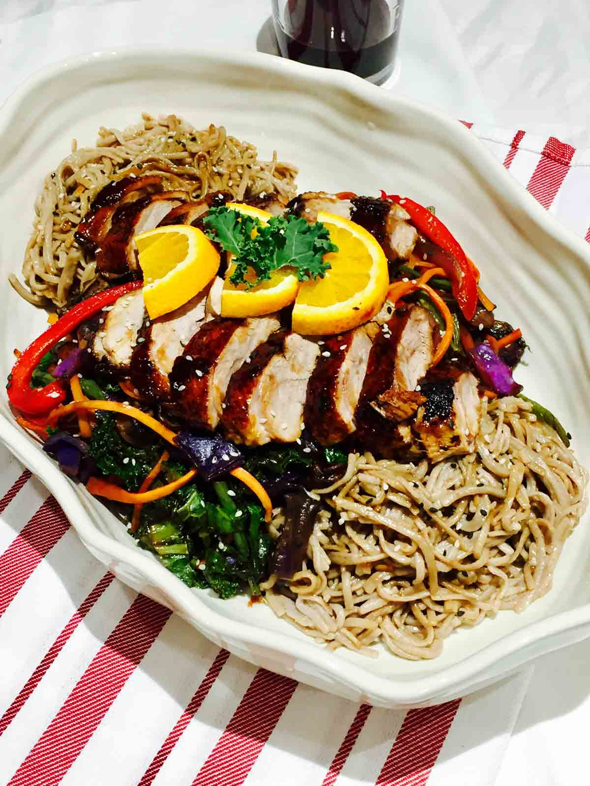 Shake up your dinner routine with this delightful duck on soba buckwheat noodles, augmented by amazing Asian spices.