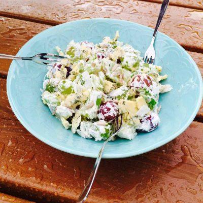 Delish grape & cheese salad