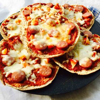 You can prepare this home made pizza in a flash, as a quick lunch snack or as a dinner treat, with what you have in your fridge.