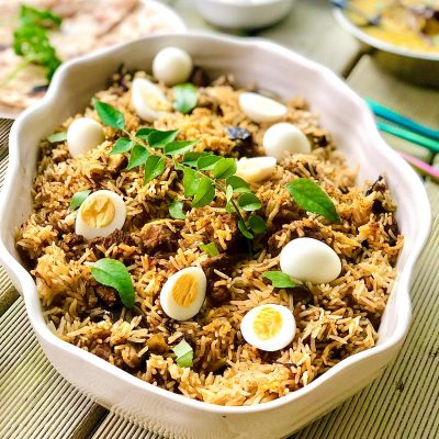 Superb Lamb Biryani with Quail Eggs
