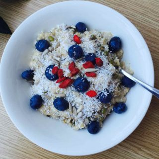 Mung beans and rice pudding