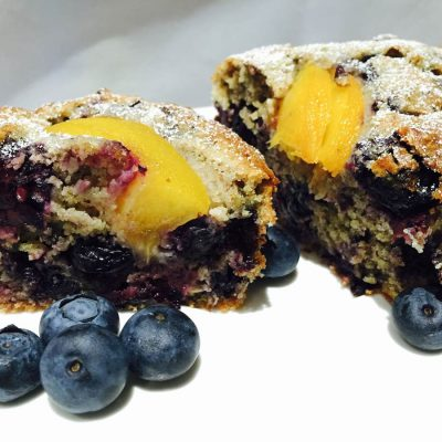 Peach 'n' berries healthy cake