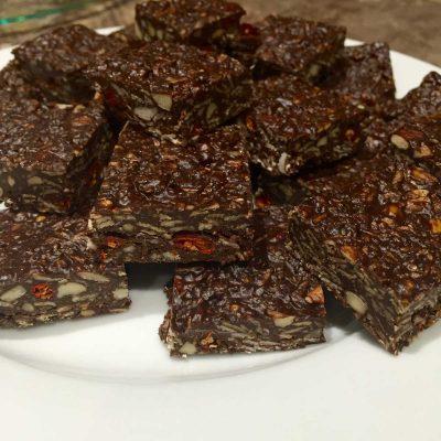Sugar free power snack squares
