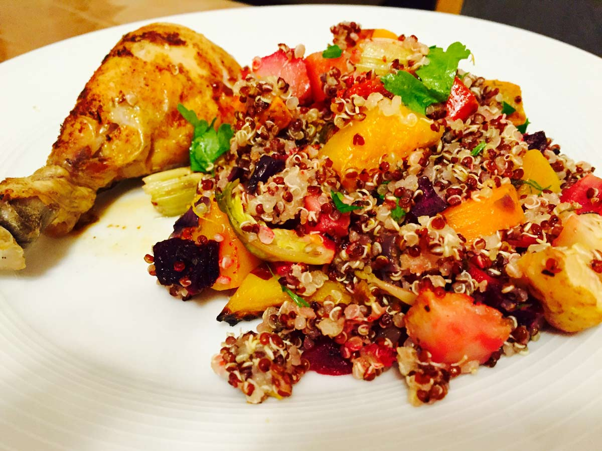 Quinoa veggies salad