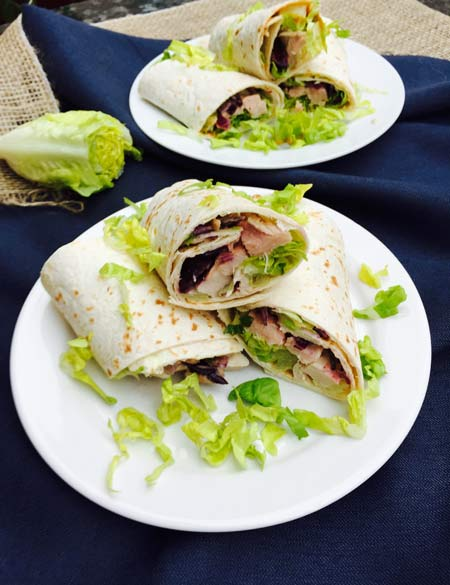 Roast pork wraps, a simple but delicious dinner.