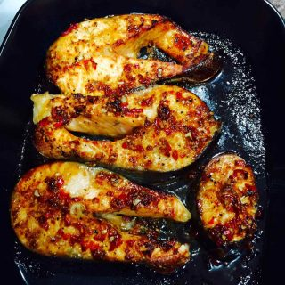 Baked spicy salmon