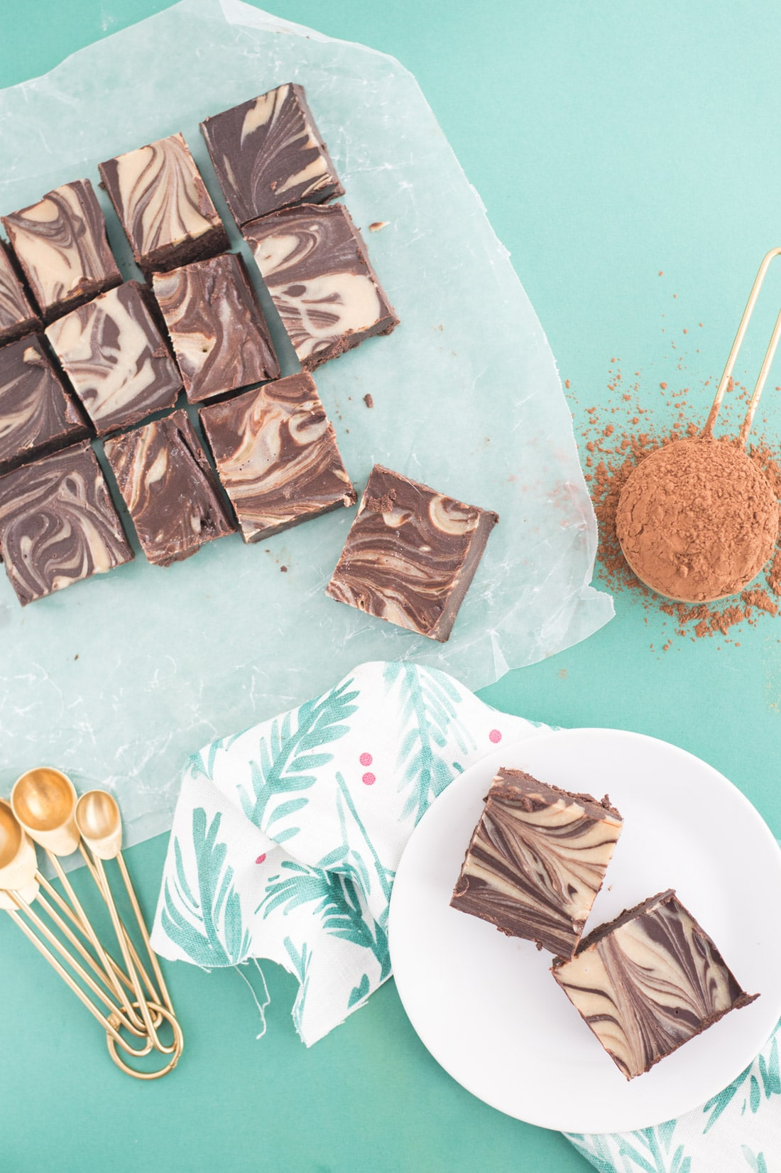 Tahini Swirl Vegan Fudge