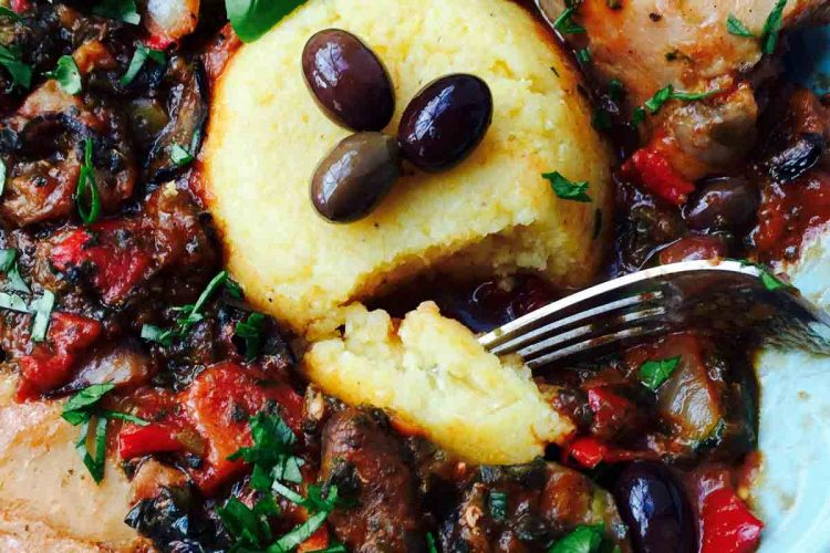 Try this scrumptious chicken casserole with mixed grilled veggies and polenta, a 'taste jackpot' for your taste buds.