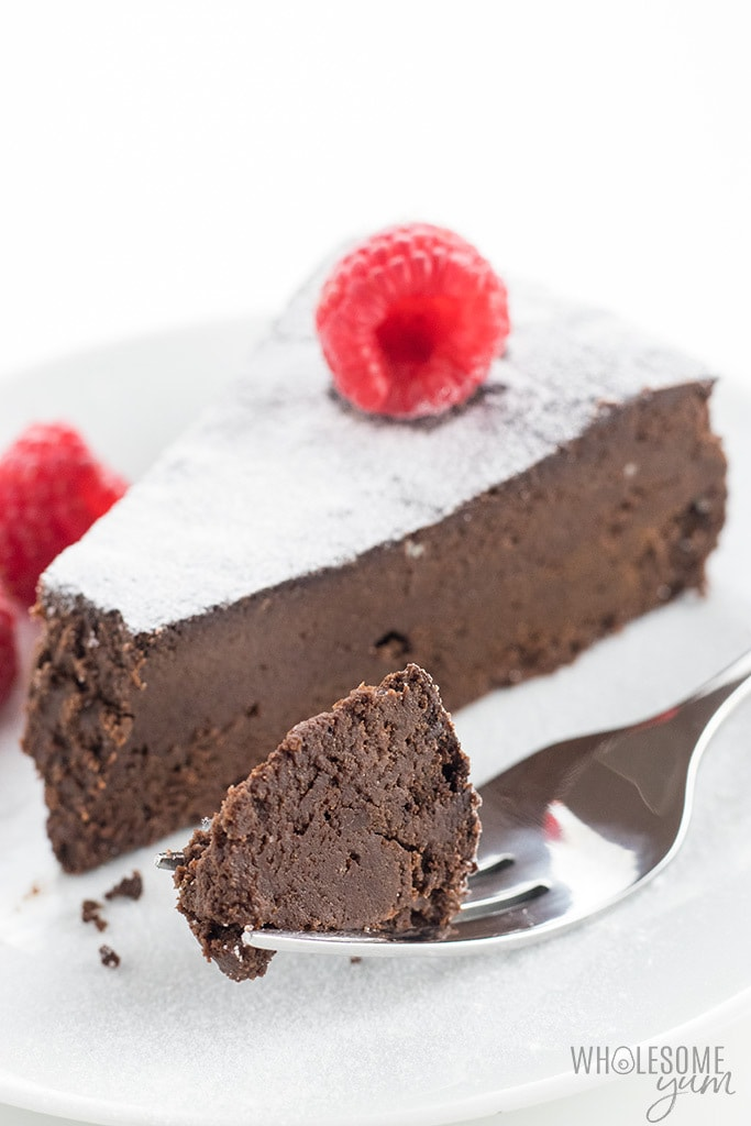 Gluten-Free Sugar-Free Flourless Chocolate Cake Recipe